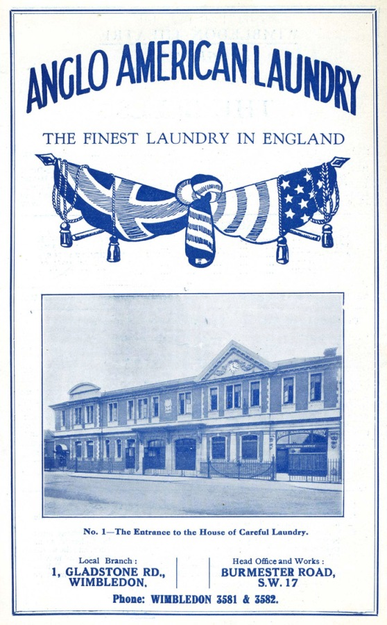 ANGLO AMERICAN LAUNDRY Advert 1932
