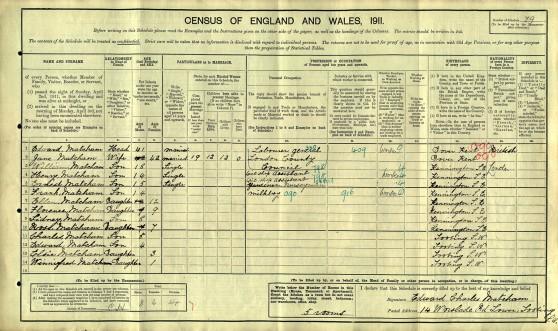 1911 census Matcham