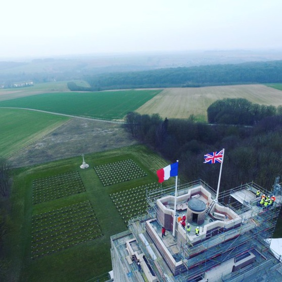 Thiepval flags
