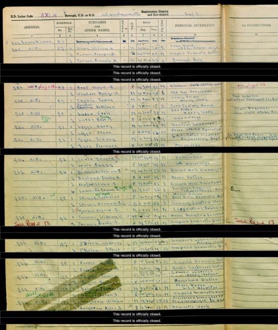 934 Garratt Lane 1939 Register