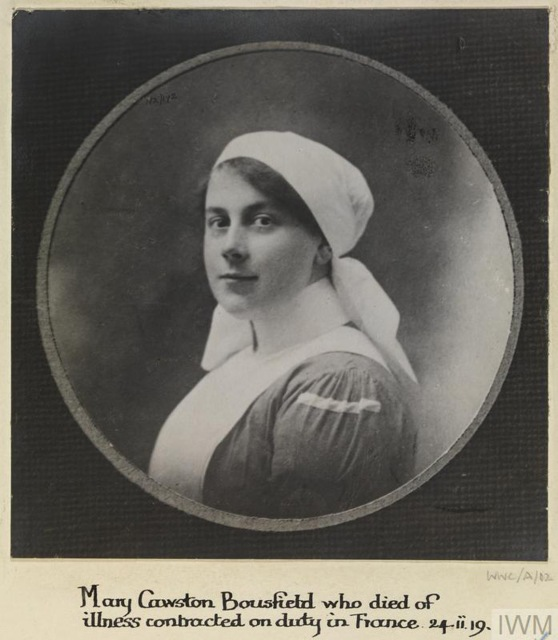 NURSE MARY CAWSTON BOUSFIELD