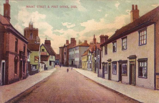 Norfolk, Diss, Mount Street and Post Office