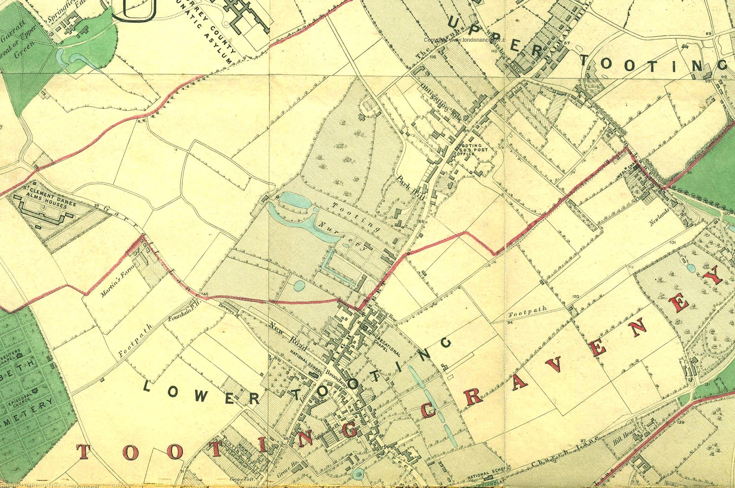 SW17 map 1862