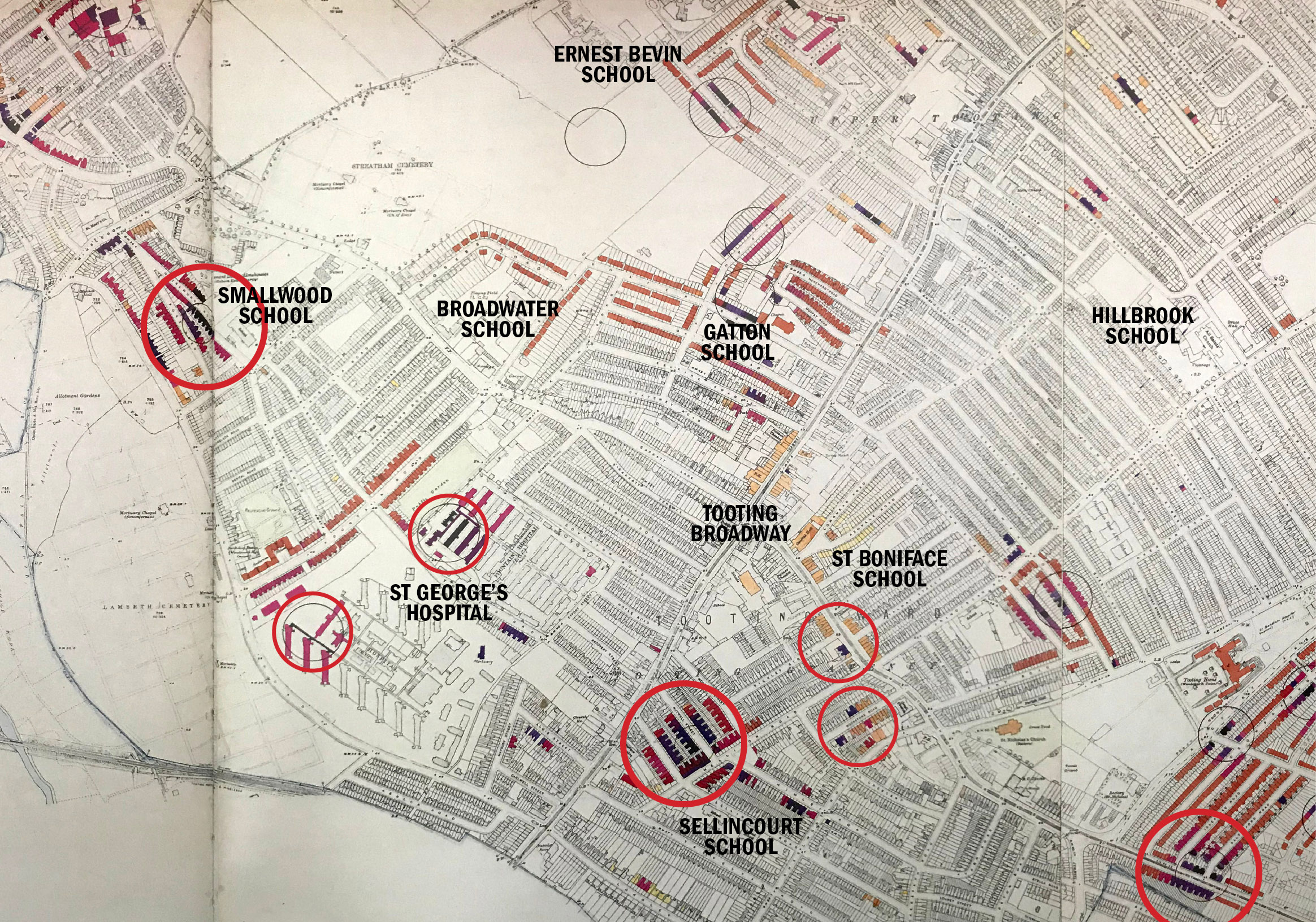 Tooting in WW2(BombMap