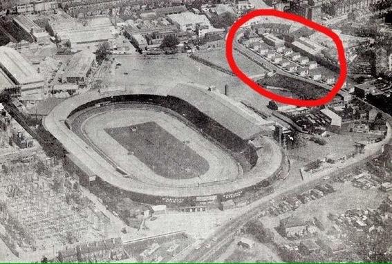 prefabs next to old stadium